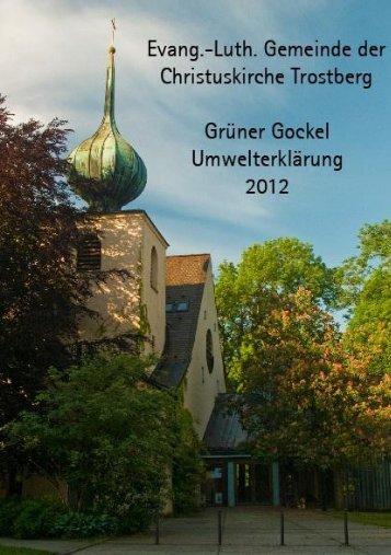 Umwelterklärung 2012 - Christuskirche Trostberg