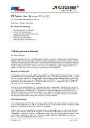 ARD Ratgeber Bauen + Wohnen vom 8 - Das Erste