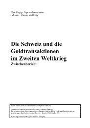 Die Schweiz und die Goldtransaktionen im Zweiten Weltkrieg