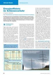 Energieeffizienz im Schienenverkehr - Elektropraktiker