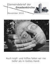 November 2010 - Evangelische Kirche in Mannheim