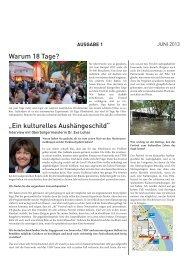 Warum 18 Tage? - Festival des deutschen Films
