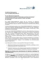 1 Schriftliche Stellungnahme vom Forum Menschenrechte e.V. für das ...