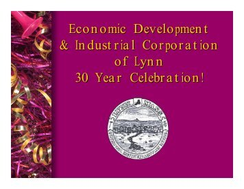 Economic Development & Industrial Corporation of Lynn 30 Year ...