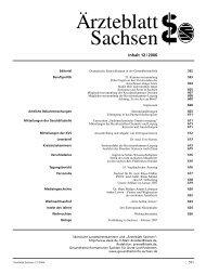 Ärzteblatt Sachsen 12/2006 - Sächsische Landesärztekammer