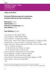 Programme du soir (PDF) - Philharmonie Luxembourg