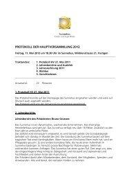 Protokoll der Hauptversammlung 2012 (PDF) - Sunnehus