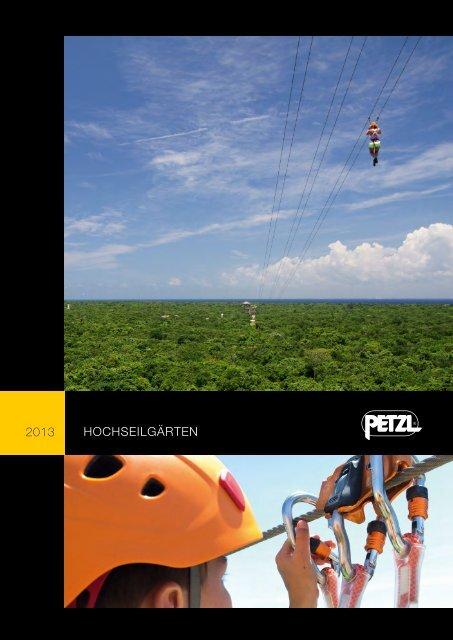 Petzl Hochseilgarten Broschüre 2013 PDF herunterladen - Krah.com