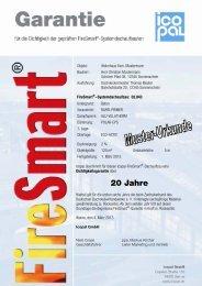 Muster einer 20-jährigen FireSmart-Garantie - Icopal GmbH