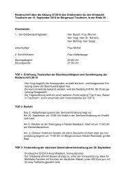 Niederschrift 15.09.2010 - Gemeinde Mühltal