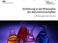 5. Philosophie der Chemie Teil 1 - Professur für Philosophie