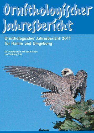 Jahresbericht 2011 - Ornithologische Arbeitsgemeinschaft Hamm