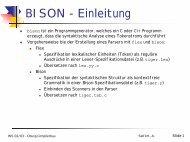 BISON - Einleitung