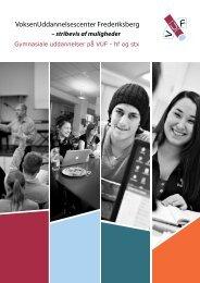 Brochure for de gymnasiale uddannelser på VUF