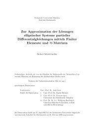 Zur Approximation der Lösungen elliptischer Systeme ... - HLib