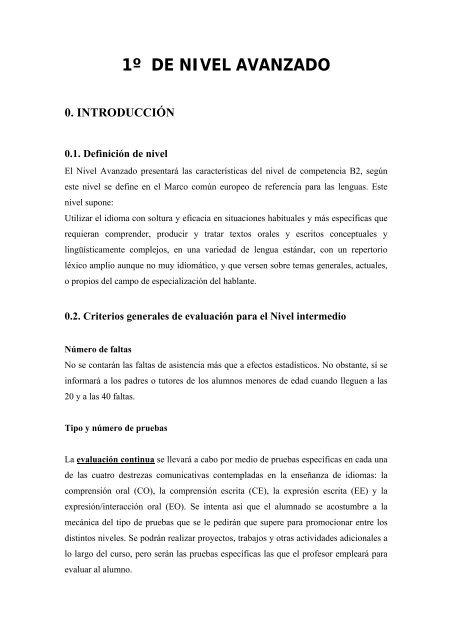 1º De Nivel Avanzado 0 Introducción Educasturprincast