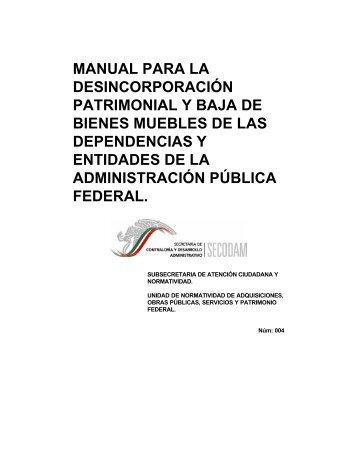 Manual para la Desincorporación Patrimonial y Baja de Bienes