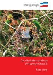 Die Großschmetterlinge Schleswig-Holsteins Rote Liste