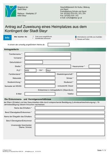 PDF-Formular - Steyr