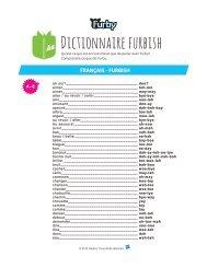 Dictionnaire furbish - Fnac