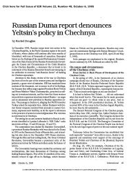 Russian Duma Report Denounces Yeltsin's Policy in Chechnya