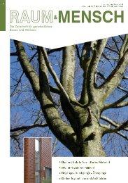 Die Zeitschrift für ganzheitliches Bauen und Wohnen - raum & mensch