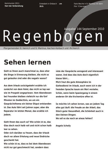 Regenbogen September 2010 - St. Heinrich