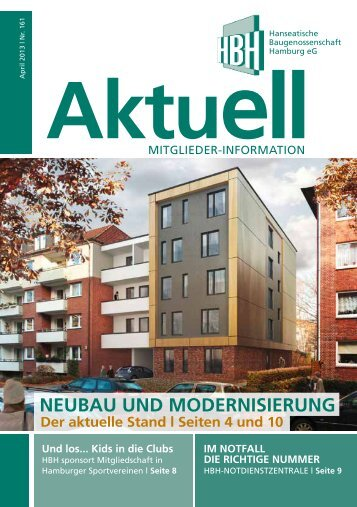 NeUbaU UNd moderNISIerUNg - Hanseatische Baugenossenschaft ...