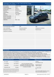 Volkswagen Golf Plus Team 1 4 l TSI 16.930 EUR