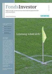 Leistung lohnt sich! - Siemens