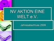 Vortrag Kasse 2009 - NV-Aktion Eine Welt