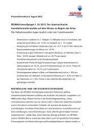 Presseinformation 6. August 2013 RE/MAX-ImmoSpiegel 1. HJ 2013 ...