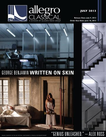 Download the July Classical - Allegro Music