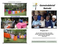 Jun/Jul/Aug 2011 Gemeindebrief Nairobi - Kirchenairobi.org