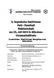 hier klicken - Bayerischer Gehörlosen Sportverband ev
