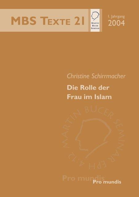 Die Rolle der Frau im Islam - Martin Bucer Seminar
