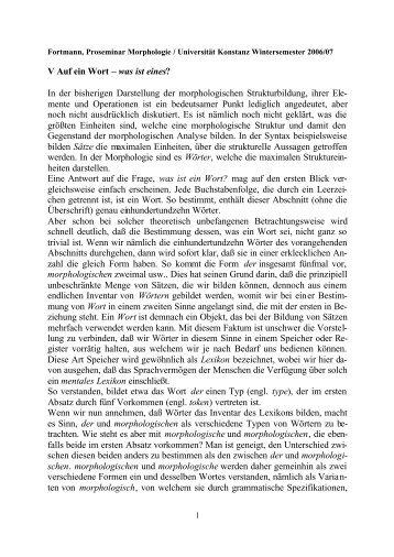 V Auf ein Wort - Universität Konstanz