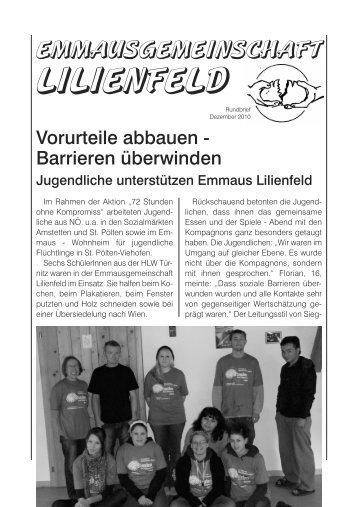 Rundbrief Dezember/2010 - Emmaus Lilienfeld