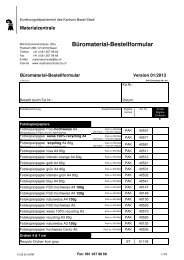Büromaterial — PDF document, 47Kb - Erziehungsdepartement