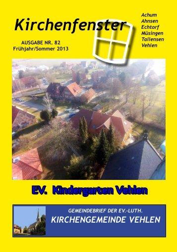 Gemeindebrief Nr. 82 - Frühjahr/Sommer 2013 - Evangelisch ...