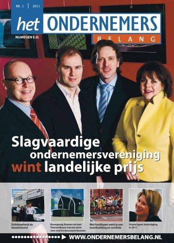 Het Ondernemersbelang Nijmegen nummer 1-2011