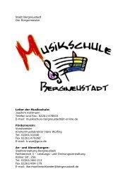 Entgeltordung für die Musikschule - Stadt Bergneustadt