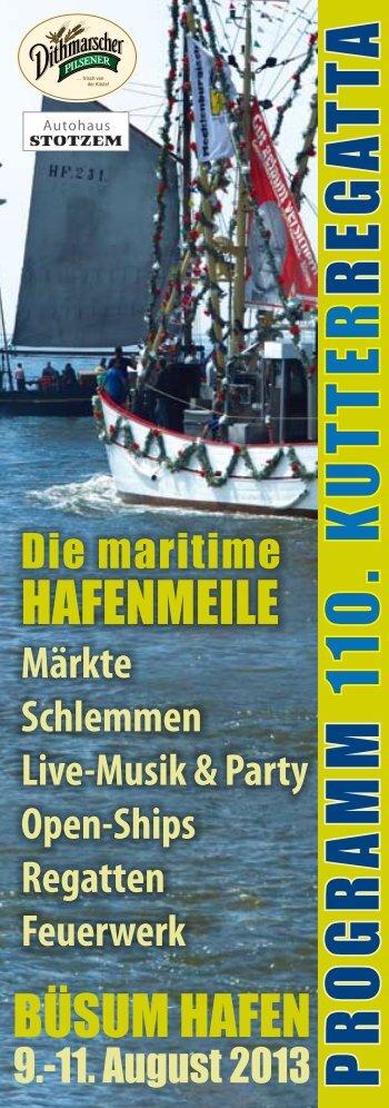 ogramm 110. kutter regatta - beim Büsumer Regattaverein e.V.