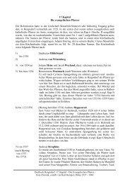 17.Kapitel Die evangelischen Pfarrer Die Reformation hatte in der ...
