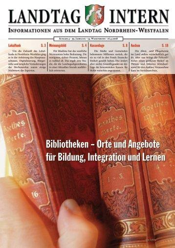 Landtag intern 4/2008 - Deutscher Bibliotheksverband e.V.
