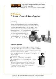 ZHM-Serie Zahnrad-Durchflußmeßgeber - BIBUS SK, sro