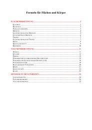 Formeln für Flächen und Körper - Mathe-total.de
