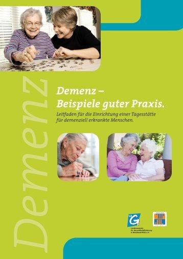 Demenz – Beispiele guter Praxis.
