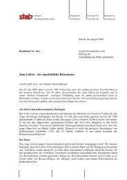 Rundbrief 164 - Stab - Stiftung für Abendländische Ethik und Kultur