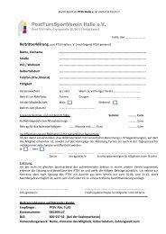 PostTurnSportVerein Halle e.V. - PTSV Halle – Abteilung Turnen